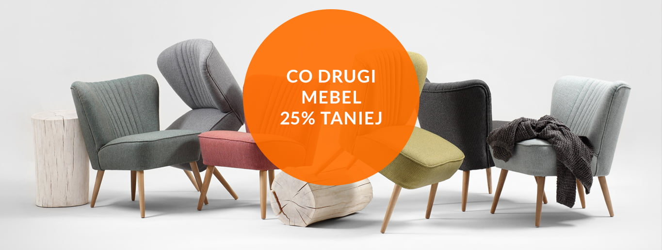 Co drugi mebel 25% taniej